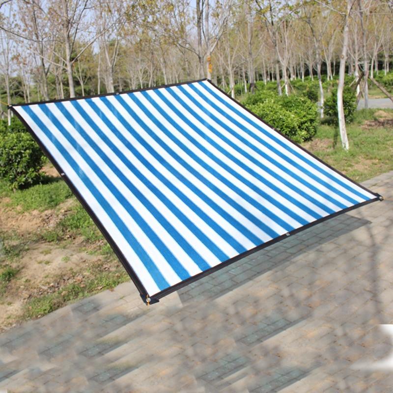 Refugio solar al aire libre 6-pin espesado borde cubierto con agujero colgante balcón hogar aislamiento térmico cubierta de coche protección solar red