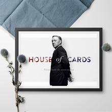 Leinwand TV Poster Haus Von Karten Kevin Spacey Wand Kunst Leinwand Malerei Poster Und Druck Wand Pictures Home Decor Für wohnzimmer