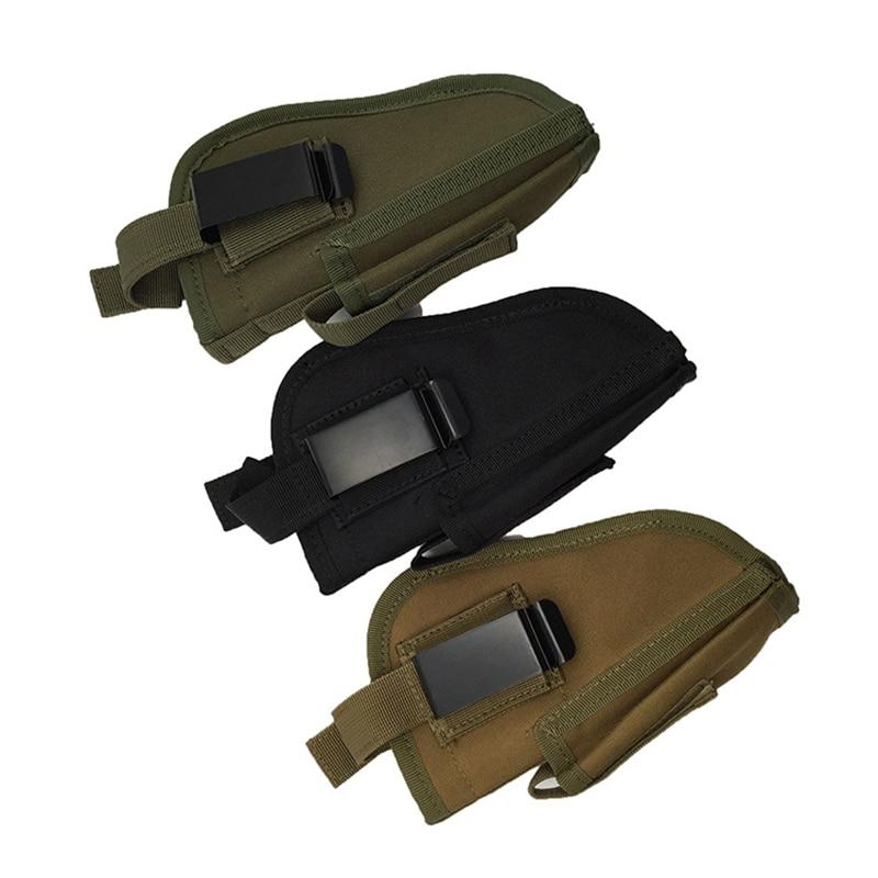 Right Left Interchangeable Tactical  Hand Gun Holster Pistol Holster Combat Airsoft Waist Belt Holster Nylon Mag Slot Holder