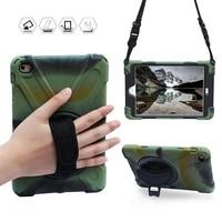 conelz for ipad mini 4 case hybrid shockproof full body protective case 360 swivel kickstand hand strap shoulder strap