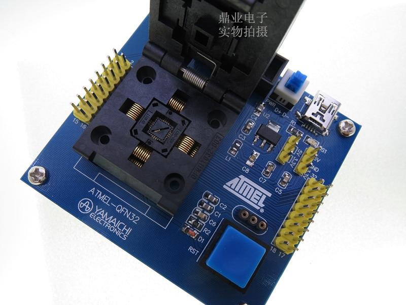Раскладушка ATmega48/88/168/8A/48 ATMEL YAMAICHI QFN32 IC адаптер для горения испытательное сиденье испытательное гнездо испытательное место стенд в наличии