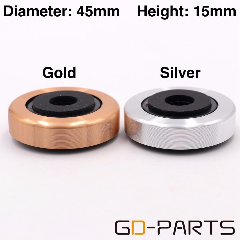 Алюминиевый пластиковый динамик 45х15 мм, изоляционная Подушка подставка для ног, коврик для шкафа, CD-плеера, проигрыватель, радио DAC, Серебряное золото