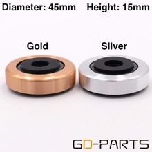 45x15mm aluminium plastique haut-parleur ampli Isolation pieds Pad support tapis de Base pour armoire lecteur CD platine vinyle DAC Radio argent or