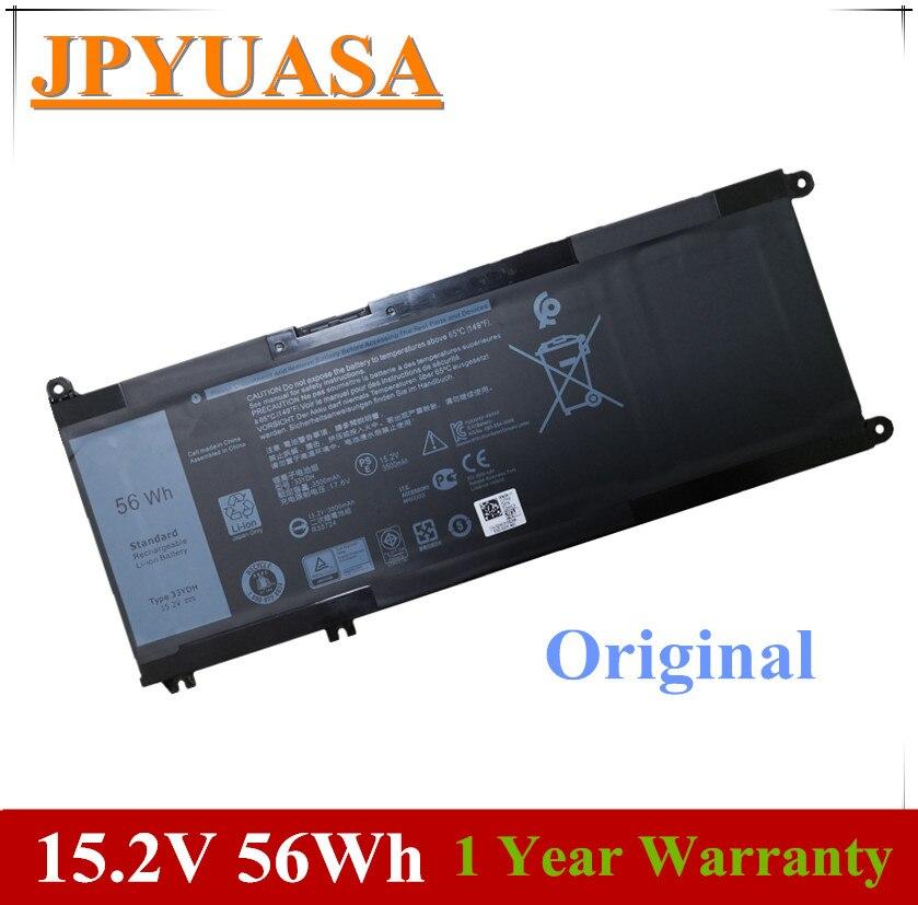 JPYUASA 15,2 V 56Wh 33YDH PVHT1 99NF2 batería del ordenador portátil para Dell Inspiron 15 7577 17 7773, 7778, 7779, 7786, 3579 5587, 7588, 3590, 3779