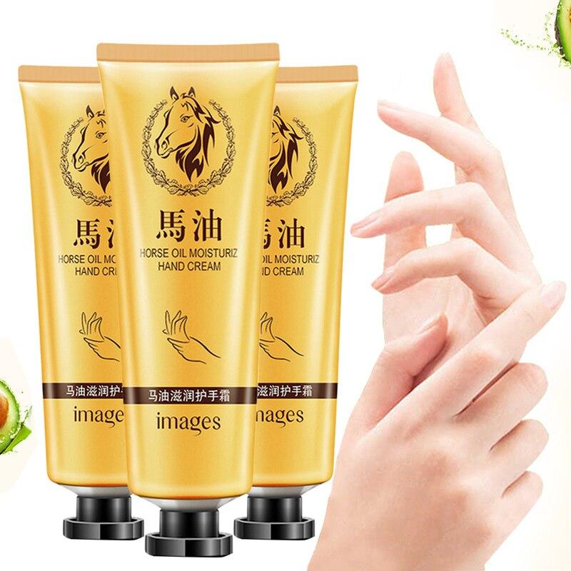 Nueva gran oferta aceite caballo reparación mano crema Anti-envejecimiento de la mano suave blanqueamiento hidratante nutritiva cuidado de la crema de la loción TSLM1