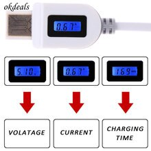 Hot LCD Digital Indicator Micro USB Data Sync Charging Voltage chargeTime cable