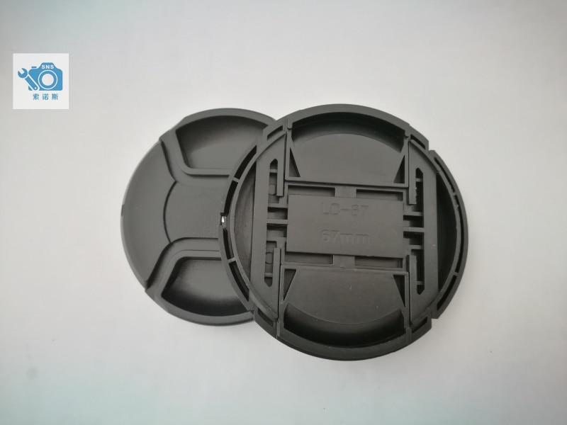 Novo 67mm snap-on tampa da lente frontal/capa 35mm 16-85 18-105 70-300 18-135 18-70 18-300 18-140 18-para niko todas as lentes dslr com corda