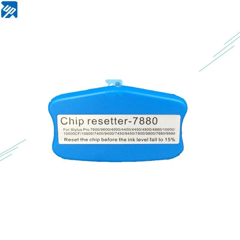 Cartouche dencre puce resetter Pour Epson 4880 7880 9880 7800 9800 4800 4000 7600 9600 cartouche dencre authentique