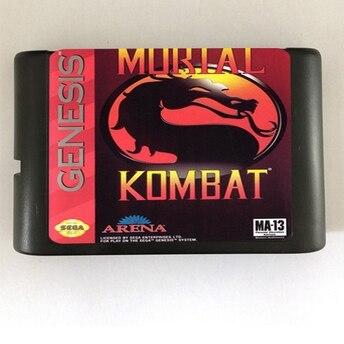 Alta calidad, 16 bits, Sega MD, cartucho de juego para sistema Megadrive Genesis --- Mortal Kombat