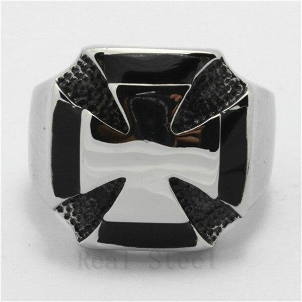 Nueva joyería de moda para hombre Punk sólido pulido gran cruz dedo anillo 316L Acero inoxidable encantador anillo nueva llegada mejor precio