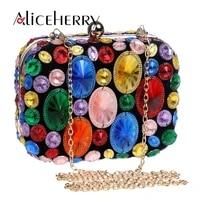 colour diamond rhinestone evening day clutch wallet handmade handbag purse evening wedding party bag golden
