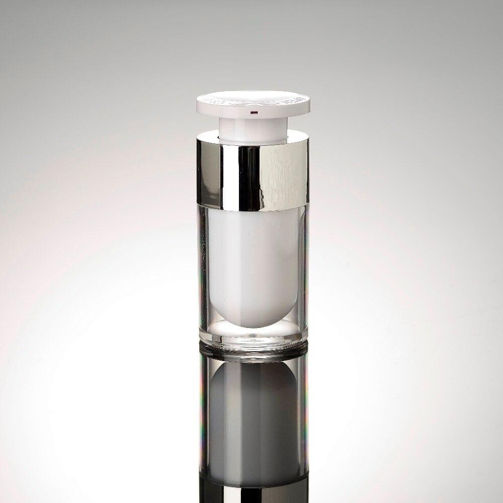 زجاجة محلول بمضخة فراغ أكريليك ، رأس قفل ، 15 مللي ، للمصل/اللوشن/مستحلب/حاوية مستحضرات التجميل الأساسية