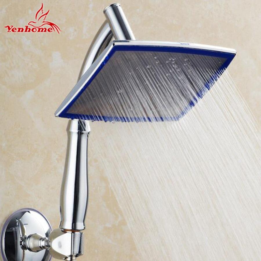 "New 8"" Bathroom Handheld Shower Head Hand Hold Shower Head Chuveiro Ducha Rotate 360 Degree Rainfall Shower Head With Handle Arm"