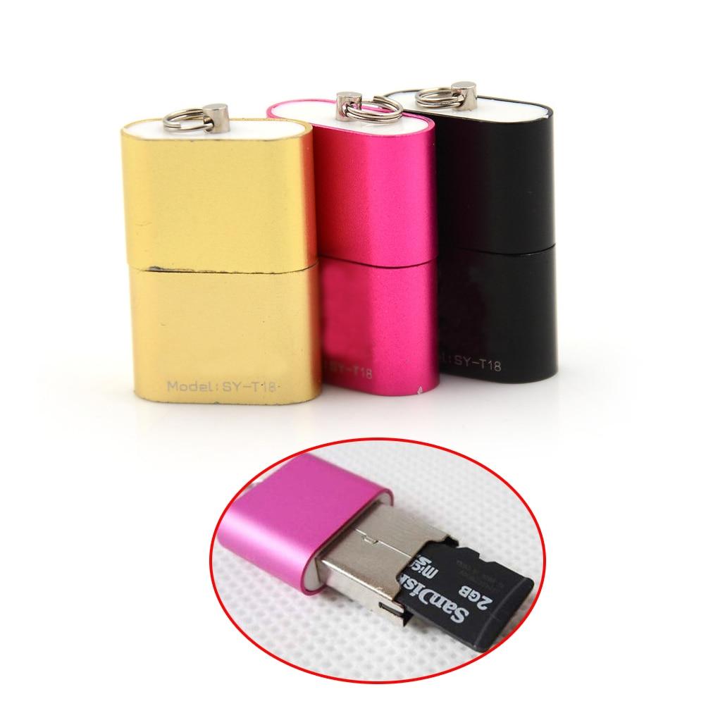 Haute vitesse USB 2.0 Micro SD TF T-Flash carte mémoire lecteur adaptateur pour tablette/téléphones 480 Mbps USB 2.0 OTG adaptateur Mini taille