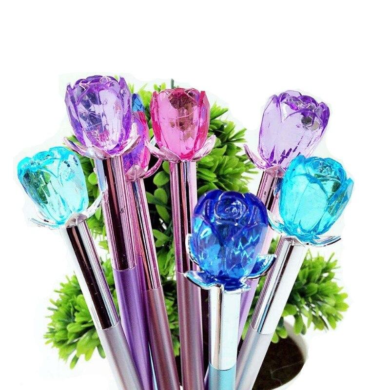 Ayron 1 Uds. Bolígrafo de Gel Kawaii estilo encantador bolígrafo de cristal rosa para niños suministros escolares de oficina Estojo Escolar envío gratis