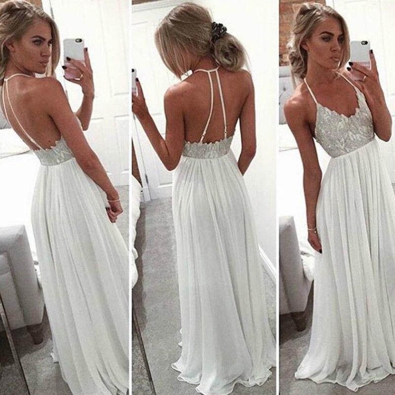 2018 nuevo estilo mujer moda Dama de Honor de boda vestido de fiesta largo vestido de baile de graduación