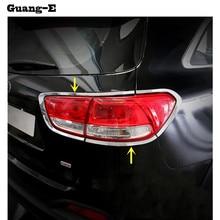 Voor Kia Sorento L 2015 2016 2017 Auto Achterlichten Back Light Lamp Detector Frame Stok Chrome Abs Cover Trim kappen 8 Pcs