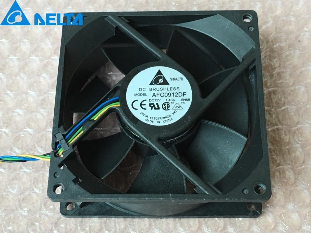 1 Uds AFC0912DF U7581 9032 12V 1.43A ventilador de viento de capacidad 90mm ventilador del chasis