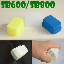 Силиконовый гибкий рассеиватель для вспышки софтбокс белый + желтый + синий для SB800/SB600 YN-460 YN-465 YN-467