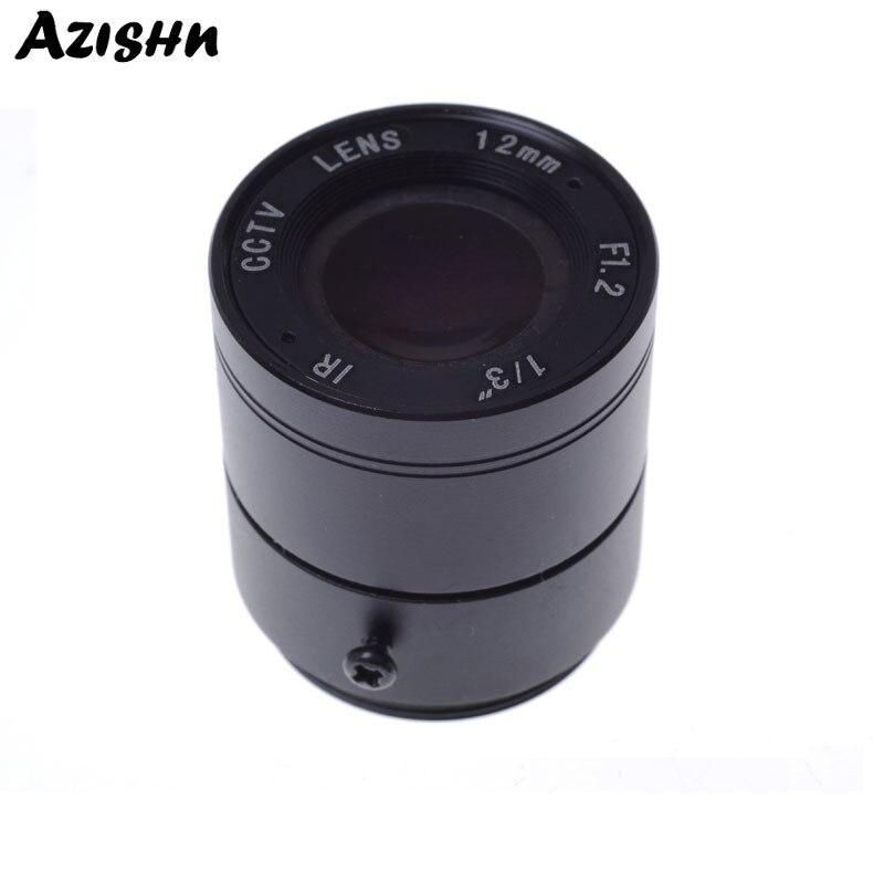 """Atacado cctv cs lente 12mm 26.2 graus 1/3 """"f1.2 cctv fixo iris ir infravermelho cs montagem lente para câmera de segurança cctv"""