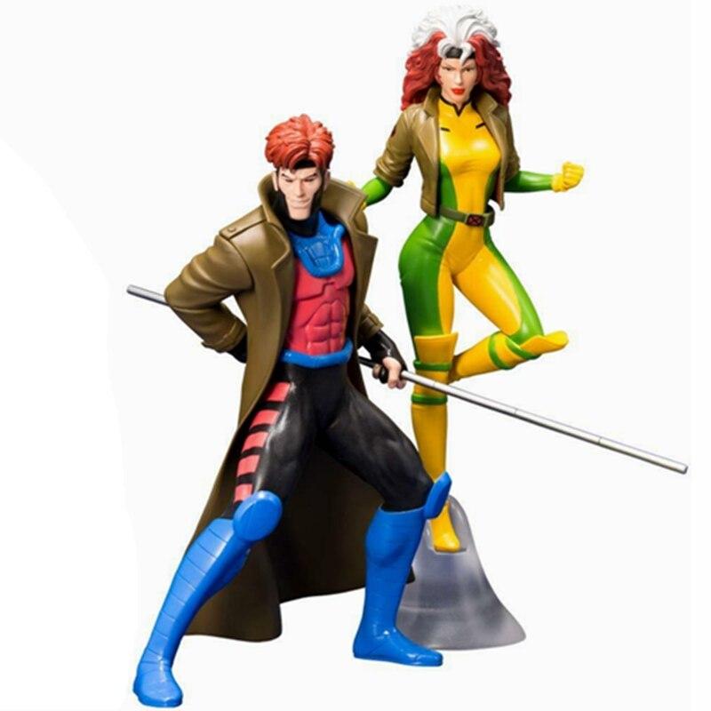 Kotobukiya Original ARTFX + universo MARVEL Gambit y Rogue juguete Brinquedos Figurals modelo regalo