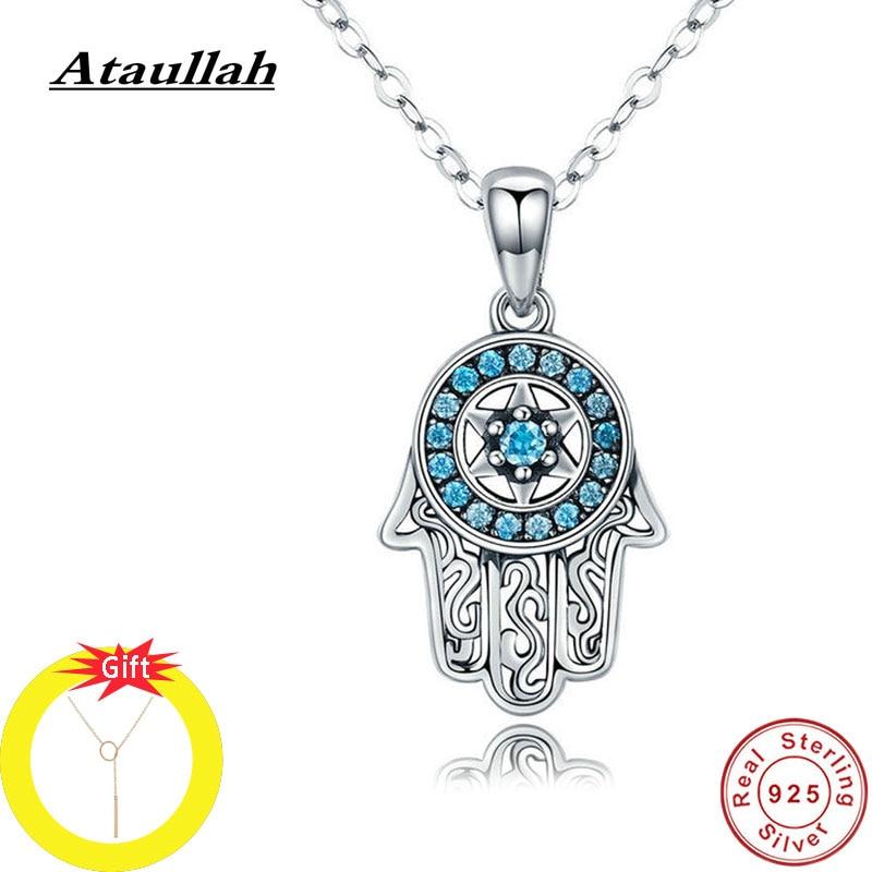 Collar de mano de ataulah Hamsa con incrustaciones de circonio AAA mal de ojo Fátima Collar para mujer Cadena de joyería para fiesta Bijoux NW055