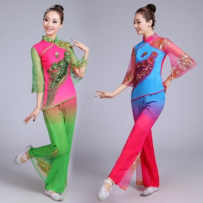 Новинка, женская одежда для весны и лета для женщин среднего и старшего возраста, фанатские танцевальные костюмы, современный национальный ...
