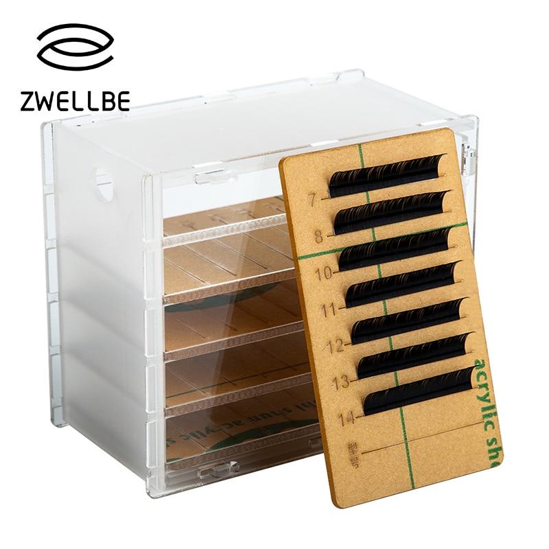 5 Layers Clear Eyelash Storage Box Makeup Organizer False Eyelashes Glue Pallet Holders Grafting Eyelashes Extension Makeup Tool