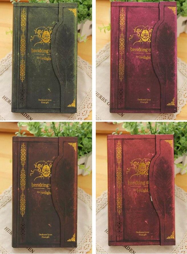 1 pieza caliente Vintage Breaking Bloc de notas de tapa dura diario libro amanecer diario cuaderno crepúsculo atemporal Bloc de notas suministros escolares papelería