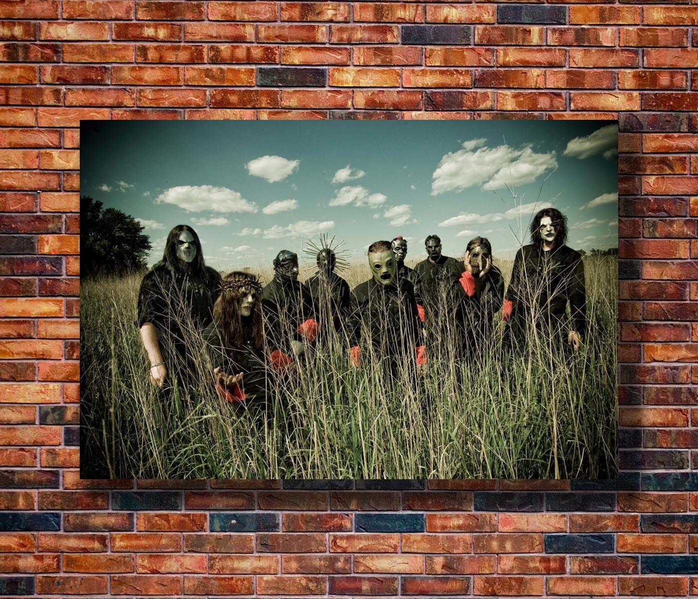 Q0146 carteles y huellas 20x30x24x36 Slipknot-banda de Heavy Metal Poster de Pop Art lona pintura decoración de hogar