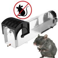 Mousetrap No Kill Animal Pet Control Cage Reusable Mice Rodent Catcher Automatic Lock Mousetrap Rat Traps