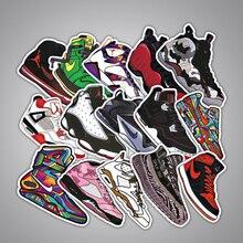 100 قطعة العلامة التجارية مختلطة الأحذية ملصقات ل سيارة التصميم دراجة نارية الهاتف المحمول السفر الأمتعة كول ملصق الموضة حسب الطلب