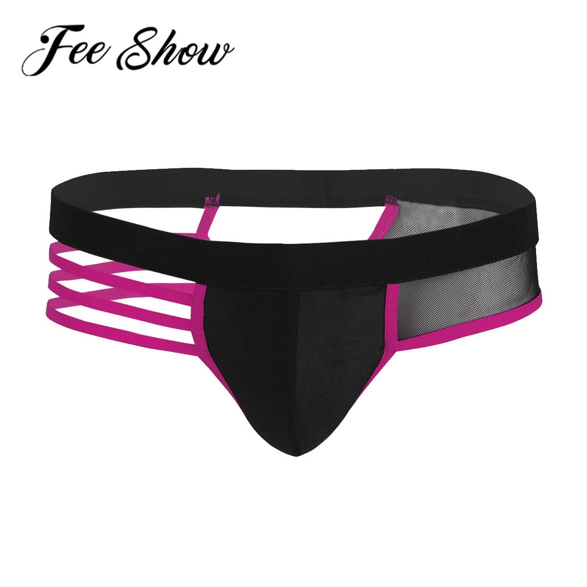 Sexy Männer Dessous Höhlte-out Unterwäsche Eine Seite Mesh Öffnen Hintern Low Rise Bikini Kurze Unterhose Exotische Männer Höschen badeanzüge