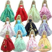 30 articles = 10 robe de mariée robe de princesse + 10 paires chaussures + 10 accessoire vêtements pour poupée Barbie bébé cadeau jouet