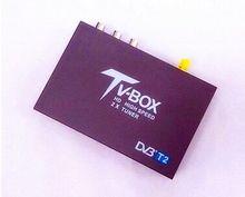 DVB-T2 haute vitesse H.264 MPEG4 DVB-T2 de voiture numérique Mobile tuner de télévision dvb t2 récepteur de voiture pour voiture dvb