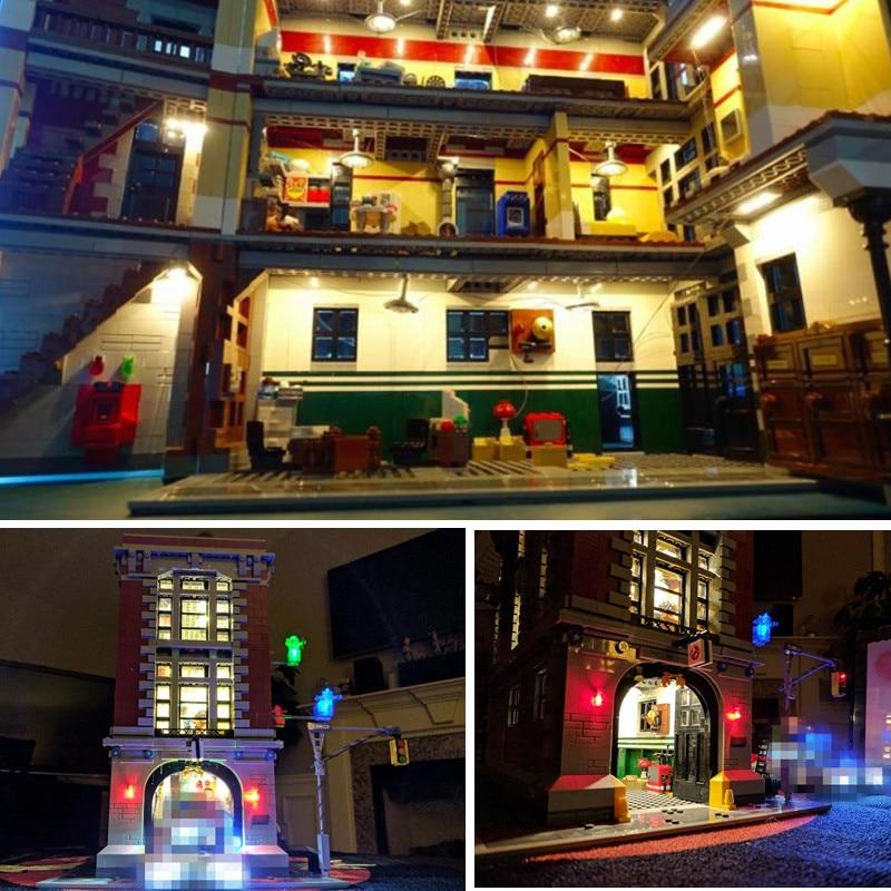 Kit de iluminación led para lego 75827 y 16001, conjunto de Kits de construcción modelo de Casa de bomberos