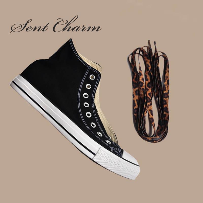 Cordones de zapatos clásicos con estampado de leopardo de SENTCHARM, cordones planos de moda para zapatos casuales de 120cm/47 pulgadas 150cm/59 pulgadas