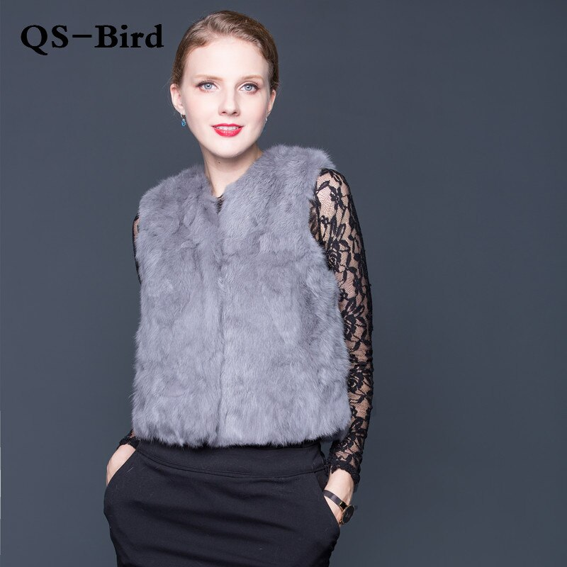 Véritable lapin fourrure gilet femmes hiver véritable fourrure manteau sans manches gilet filles mince court Style vestes naturel lapin fourrure gilet