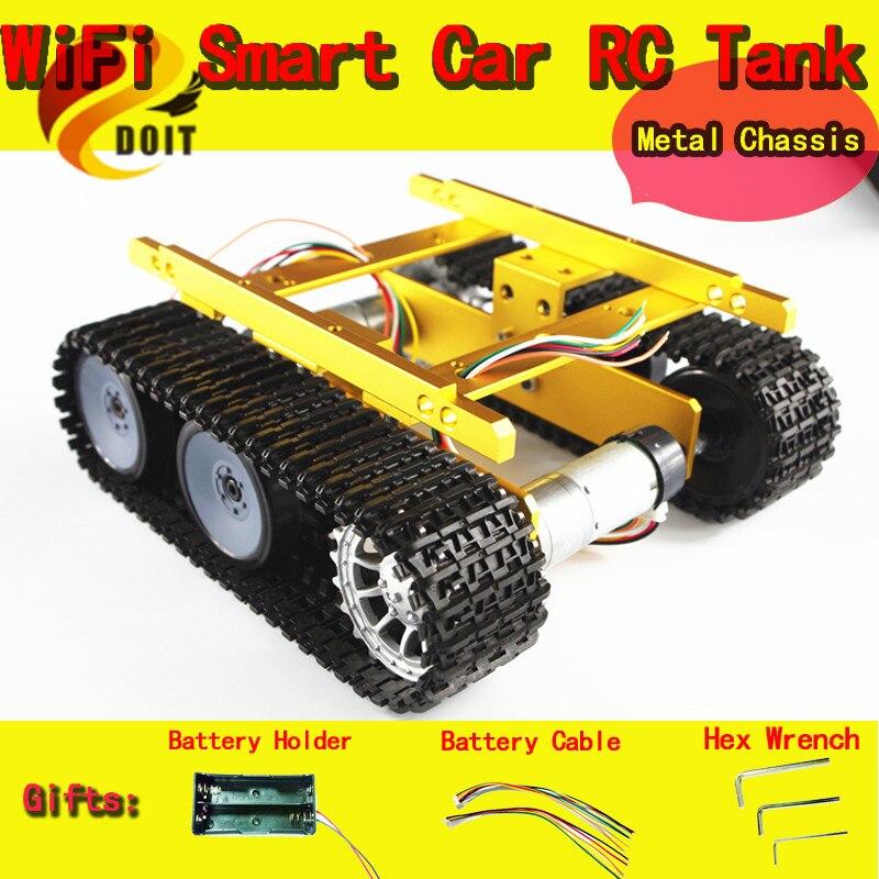 Sensores de Velocidade DOIT Tanque Chassis/Creeper Caminhão/Rastreado Carro Esperto/Motores de Alto Torque e Sensor Hall/ robot Parte para DIY