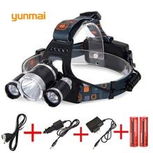 Powerful  Lumen 3*NEW XML-L2 Headlamp Headlight Head Lamp Light Flashlight Rechargeable Lantern Fishing Hunting Lights