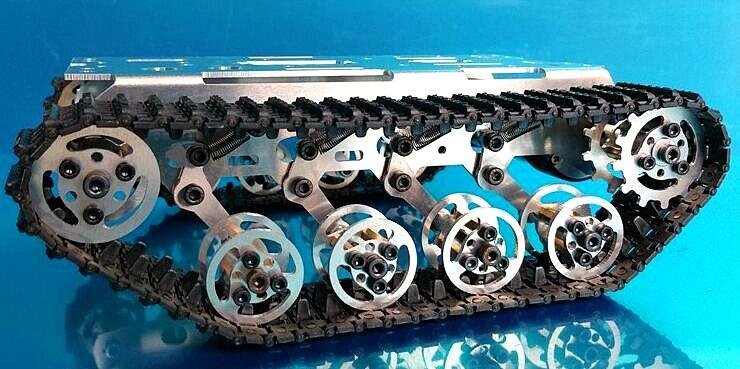 Sistema di sospensione telaio Intelligenza RC Pista serbatoio pista chassis dolly assorbimento degli urti telaio Intelligenza dolly telaio