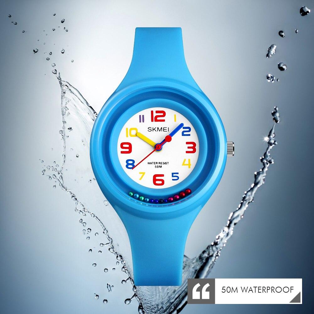 Relojes de moda SKMEI para mujer, relojes de cuarzo de marca lujosa para mujer, relojes de pulsera impermeables de silicona para mujeres y niñas, zegarek damski