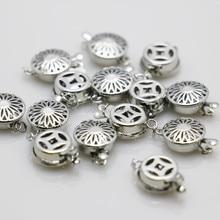 10 pcs 1row gros bouton pression métal accessoire argent-plaque pour collier à faire soi-même Bracelet usinage pièces fabrication de bijoux 12*4.6mm