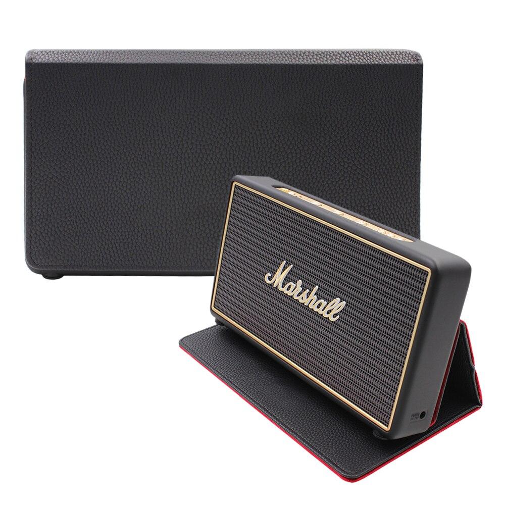 Nueva funda con función de succión magnética PU estuche de almacenamiento de viaje para Marshall Stockwell Altavoz Bluetooth portátil