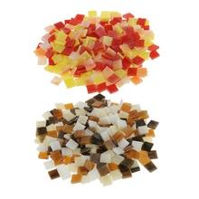 500 Stuks Diverse Kleur Glasvocht Glas Mozaïek Tegels Voor Mozaïek Maken Diy Ambachten Kinderspeelgoed 10x10mm