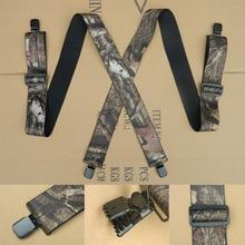 OLOME 120 cm x 5 cm Vintage männer Camouflage Hosenträger Männlichen Hosenträger Schulter Gurt Suspensorio für Männer Outdoor suspensorio hosen
