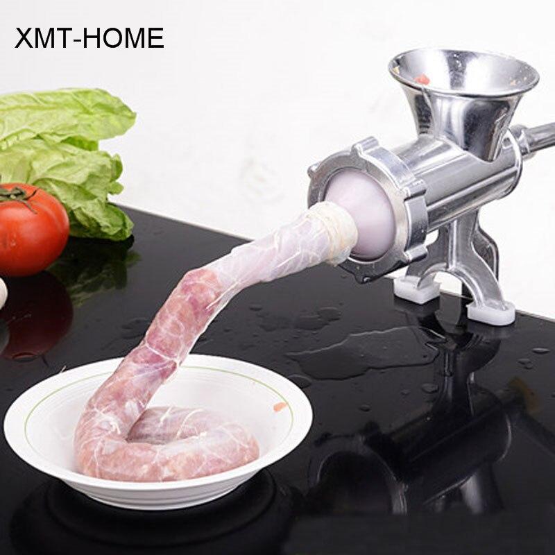 XMT-HOME Manuelle wurstfüllhorn füllstoff maschine gehäuse für wursthüllen fleisch kleine wursthersteller schinken presse