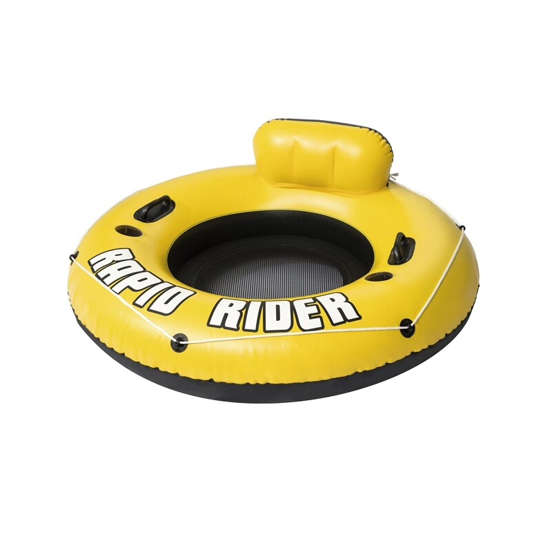 Inflable redondo Rapid Rider Tube con malla inferior portavasos anillo piscina flotador colchón de aire diversión con agua juguetes balsa