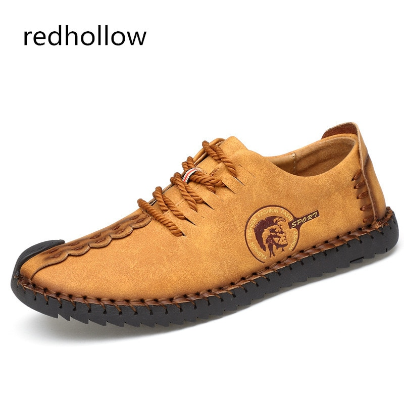 2019 Fashion Comfortable Casual Shoes Loafers Men Quality Split Leather Flats Hot Sale Moccasins For Man