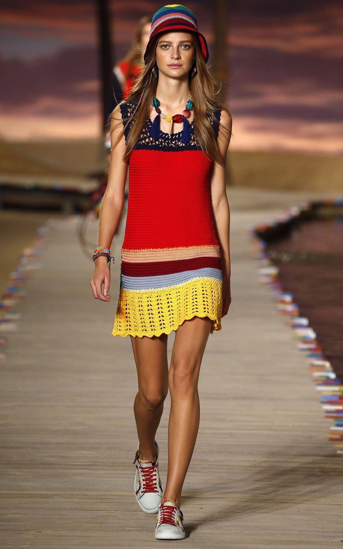 Женское пляжное платье 4F4532, летнее трикотажное платье